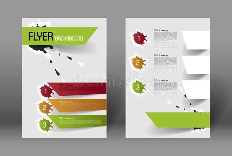 Modern Flyer Design Template Stock Vector Illustration Of Brochure