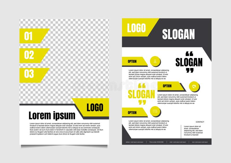 Modern flyer template, size 842x595 pixel royalty free illustration