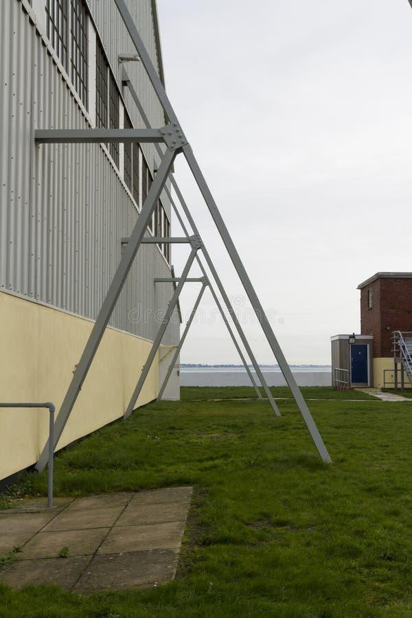 Modern flying buttress. stock photo