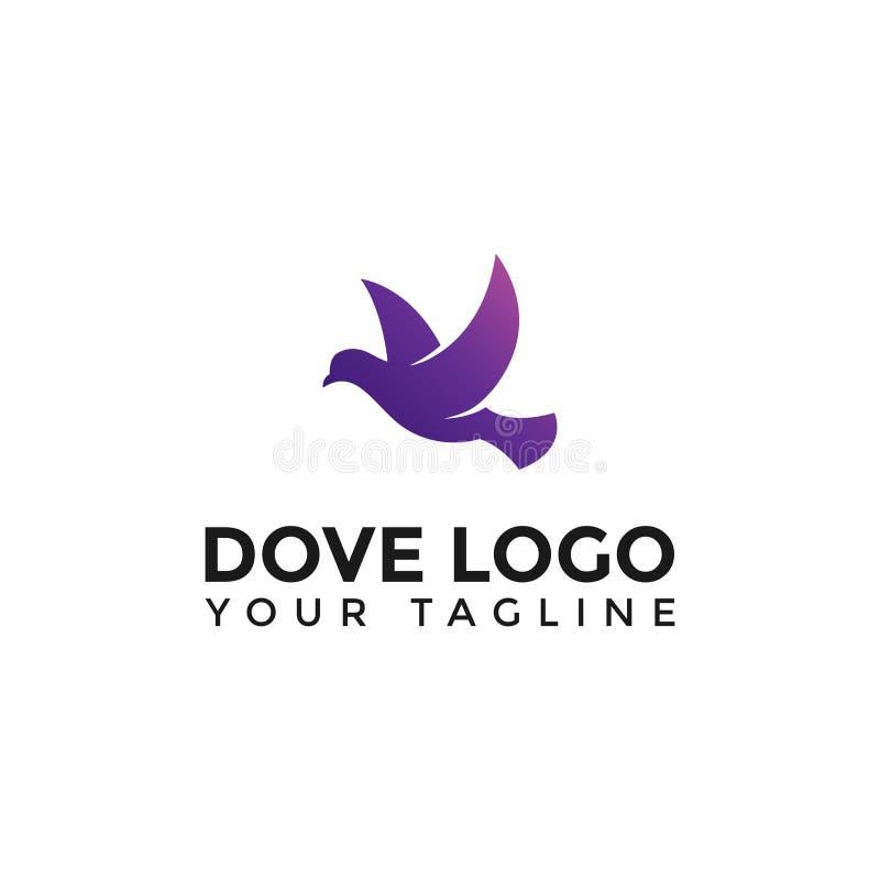 Modern Flying Dove Bird Logo Design Template royalty free stock images