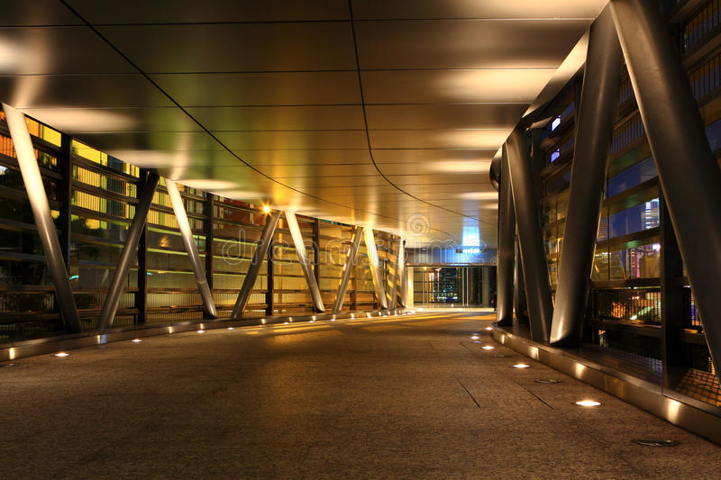 Modern flyover at night royalty free stock photography