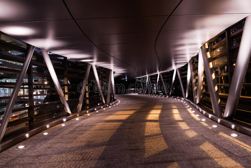 Modern flyover in the night with shadow stock photos