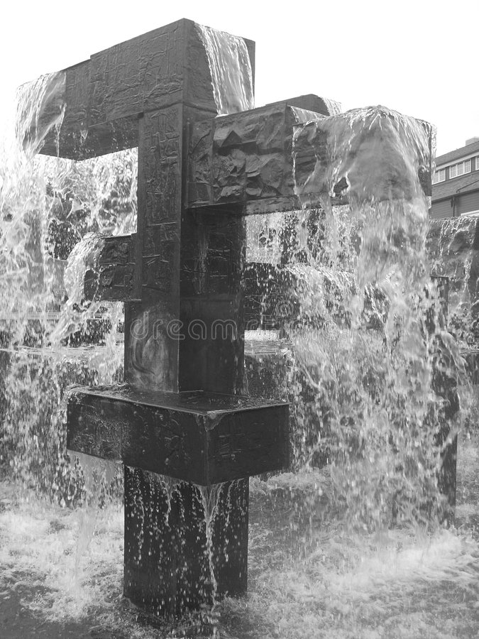 MODERN FOUNTAIN royalty free stock image