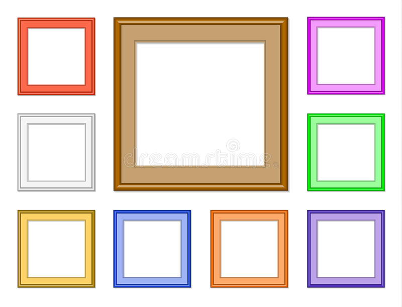 Modern frame-square stock illustration. Illustration of decoration ...