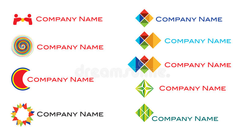 Download Modern fresh logo set stock vector. Image of firm, aviation - 20597832