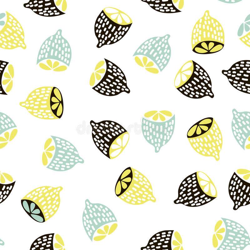 Modern fruit seamless pattern background with lemons for Modern kids fabric