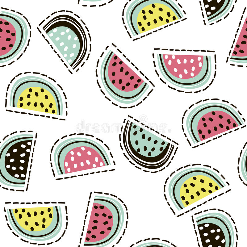 Download Modern Fruit Seamless Pattern. Background With Watermelon. Great For Kids Fabric, Textile, Etc. Vector Illustration. Stock Vector - Illustration: 83041444
