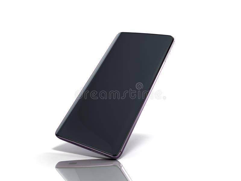 Modern full screen smart phone 3d render on white. Modern full screen smart phone 3d render on vector illustration