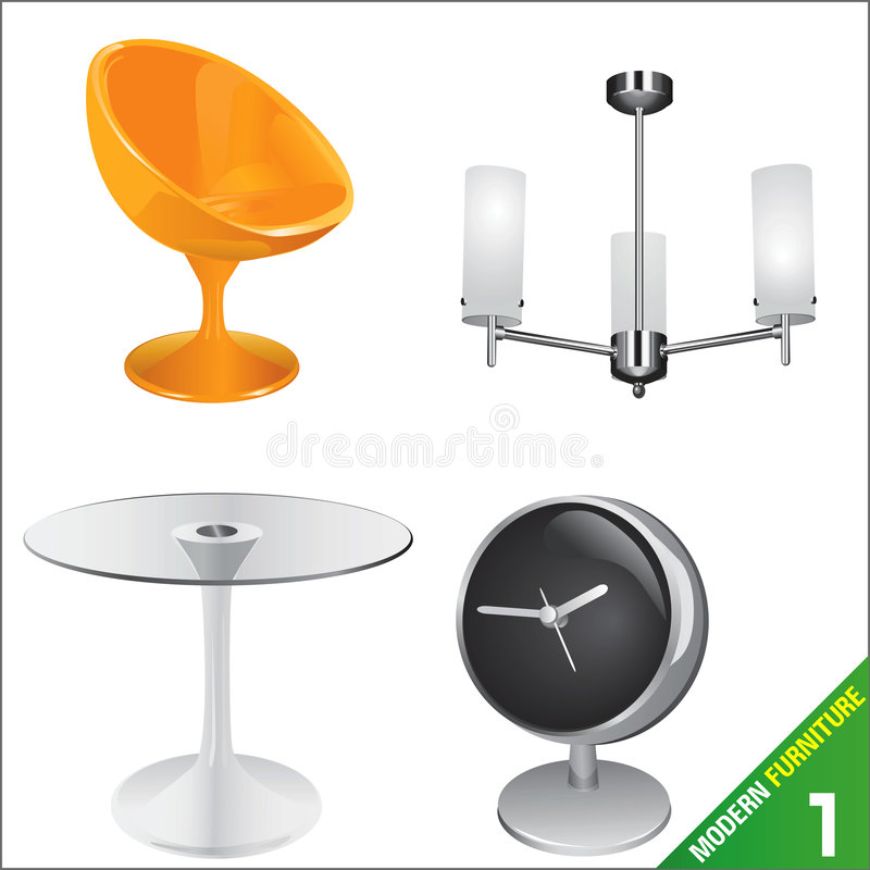 Modern furniture 1 vector royalty free illustration
