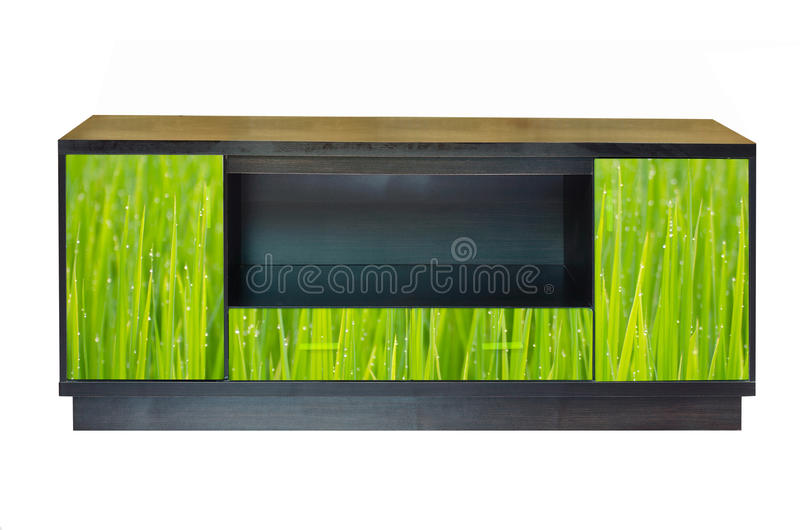 Modern furniture. For green home decoration stock images