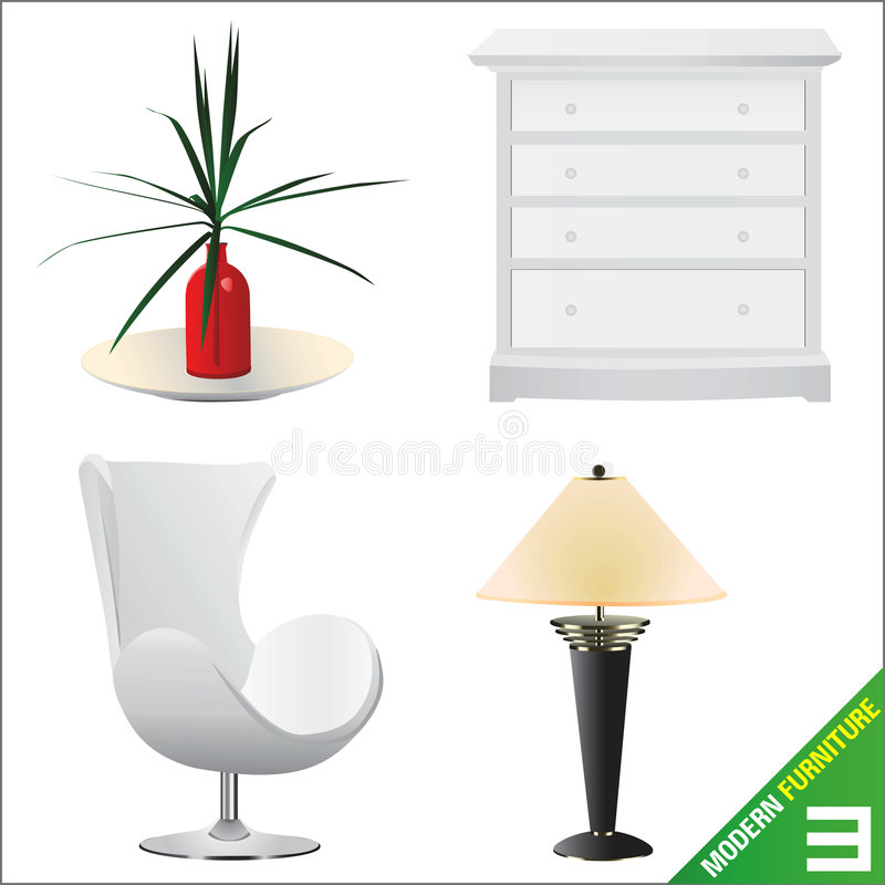 Modern furniture 3 vector vector illustration