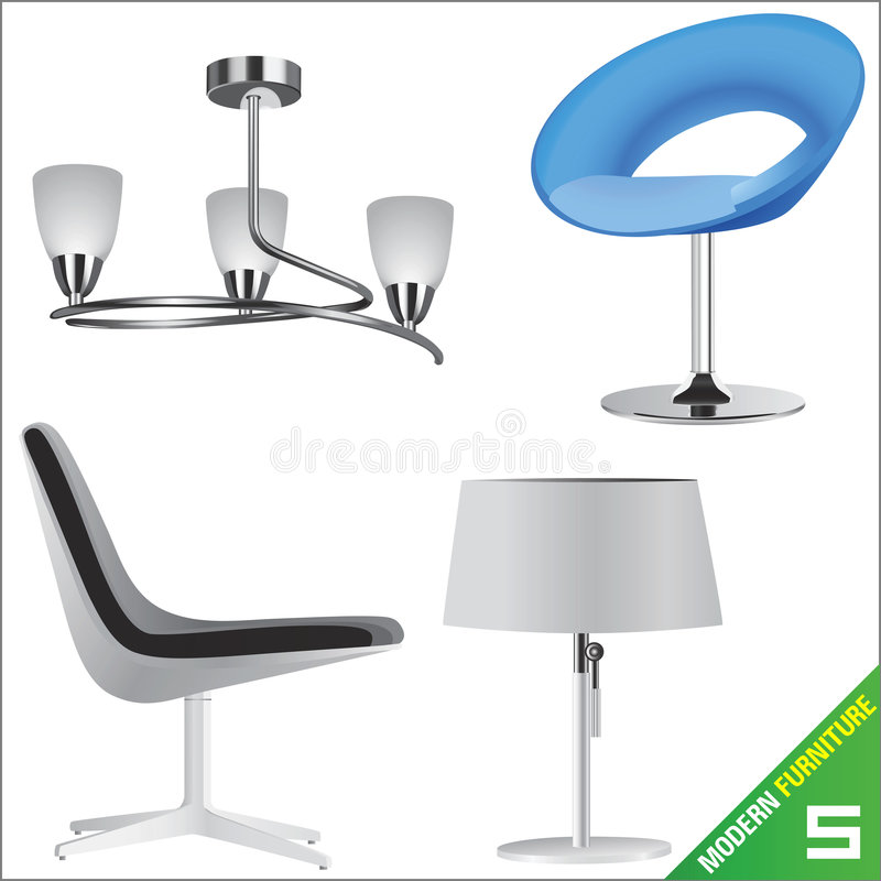 Modern furniture 5 vector stock illustration