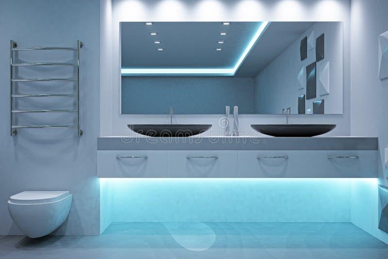 Modern bathroom interior royalty free illustration