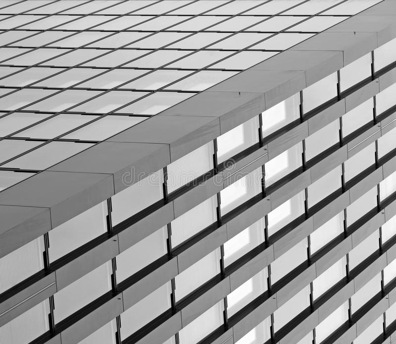 Modern futuristic black and white buildings royalty free stock image