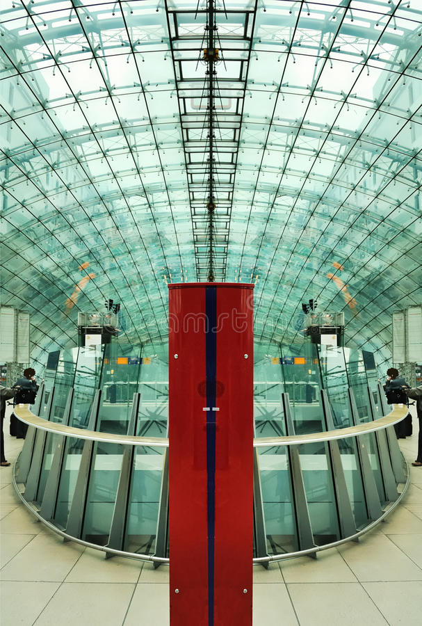 Modern and futuristic building stock image