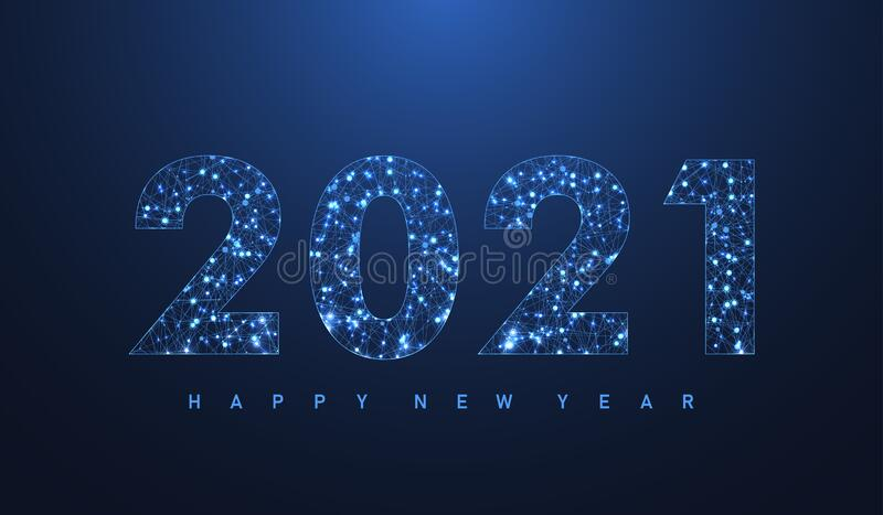 2021 Christmas Technology Modern Futuristic Technology Template For Merry Christmas And Happy New Year 2021 With Connected Lines And Dots Plexus Stock Vector Illustration Of Greeting Card 198715579
