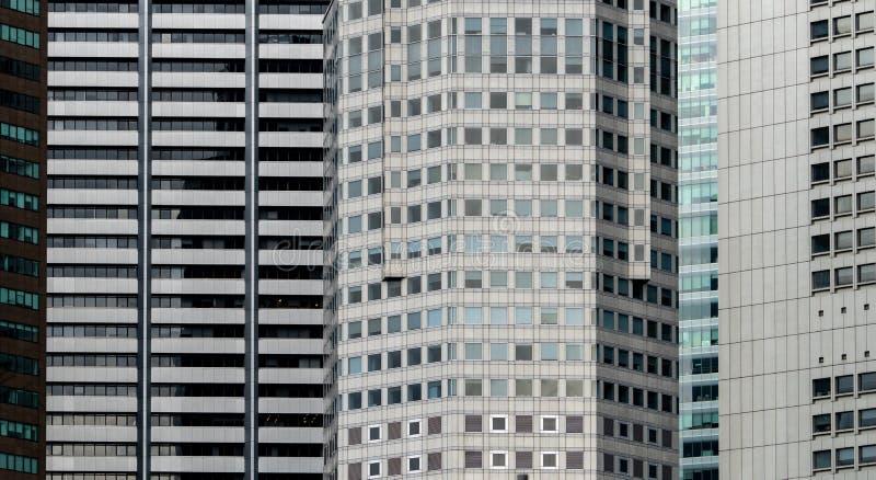 Modern futuristisch glas die abstracte achtergrond bouwen Buitenkant van bureauglas de bouwarchitectuur Voorgevel van financieel  stock foto