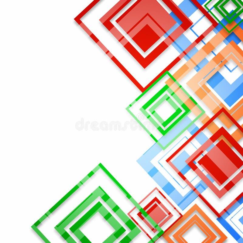 Modern fyrkantig geometrisk modelldesign på vit vektor illustrationer