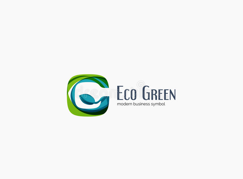 modern g letter green eco concept company logo stock. Black Bedroom Furniture Sets. Home Design Ideas