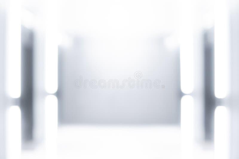 Modern galleribakgrund för abstrakt suddighet arkivfoto