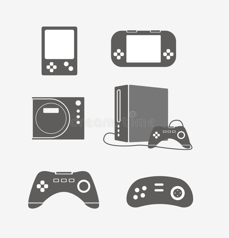 Download Modern Game Console Silhouettes Royalty Free Stock Photo - Image: 36497825