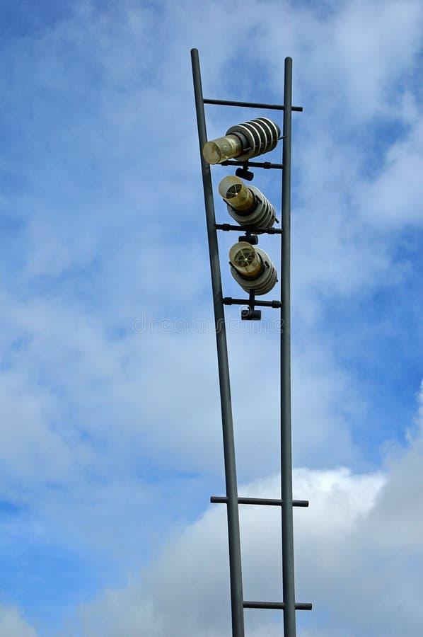 modern gata för lampa royaltyfria foton