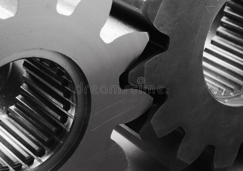 Download Modern Gears In Black/white Stock Image - Image: 730669