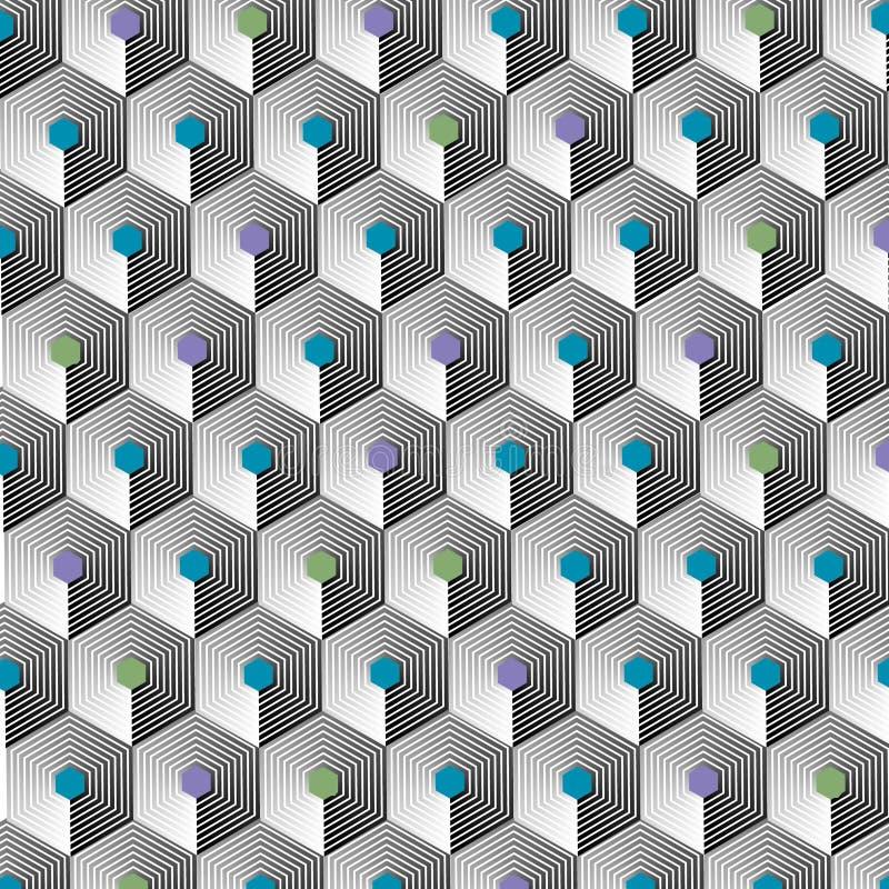 Modern-Geometric-Pattern-003 royalty free illustration