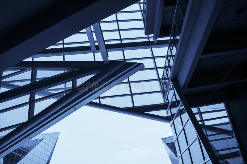 A modern geometric shape architecture.  stock images