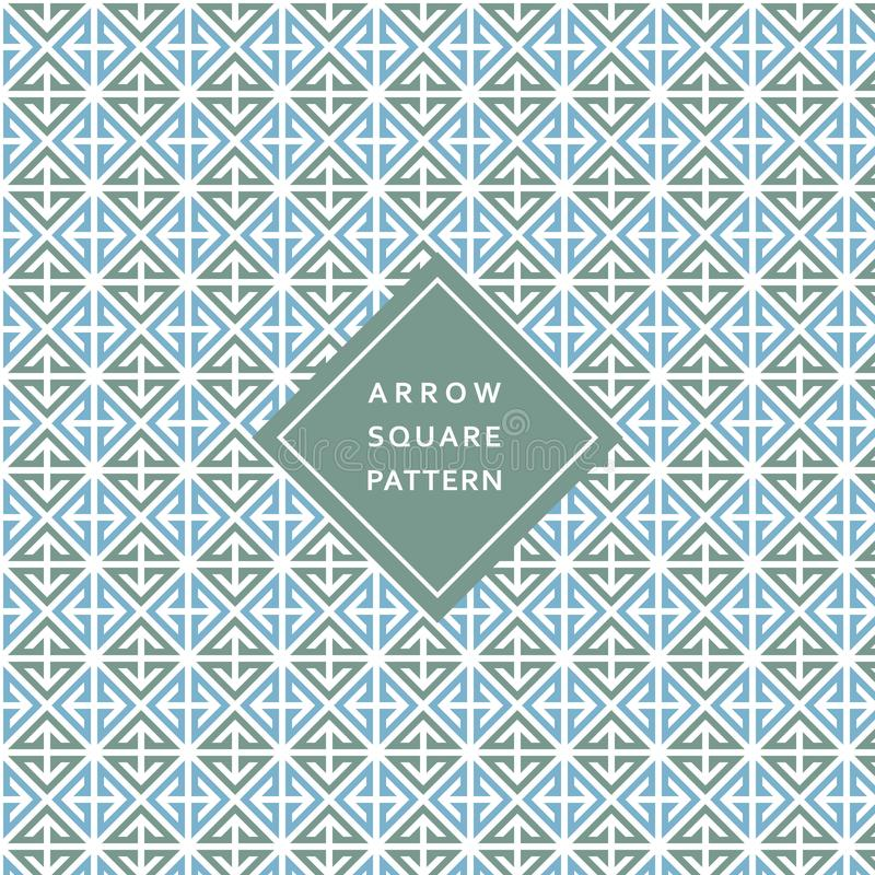 Modern Geometric Square Arrow Pattern Texture Background stock illustration