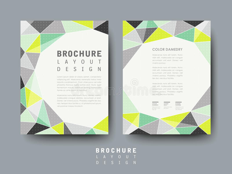 Modern Geometric Style Flyer Template Stock Vector  Image