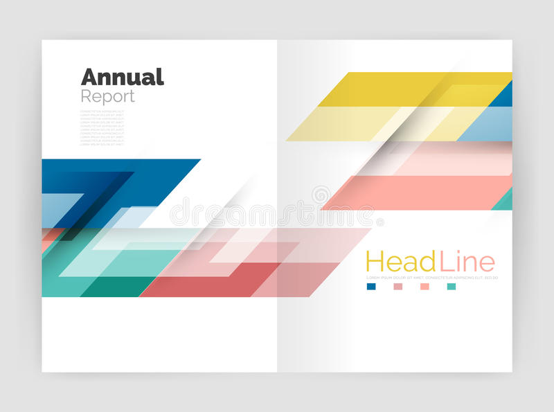 Modern Geometric Templates. Business Flyer Brochure Or Annual Report ...