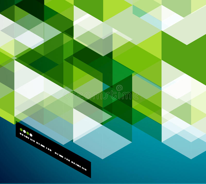 Modern geometrical abstract template. Modern geometrical abstract vector template stock illustration
