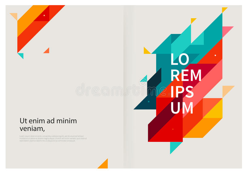 Modern geometrisk abstrakt bakgrund stock illustrationer