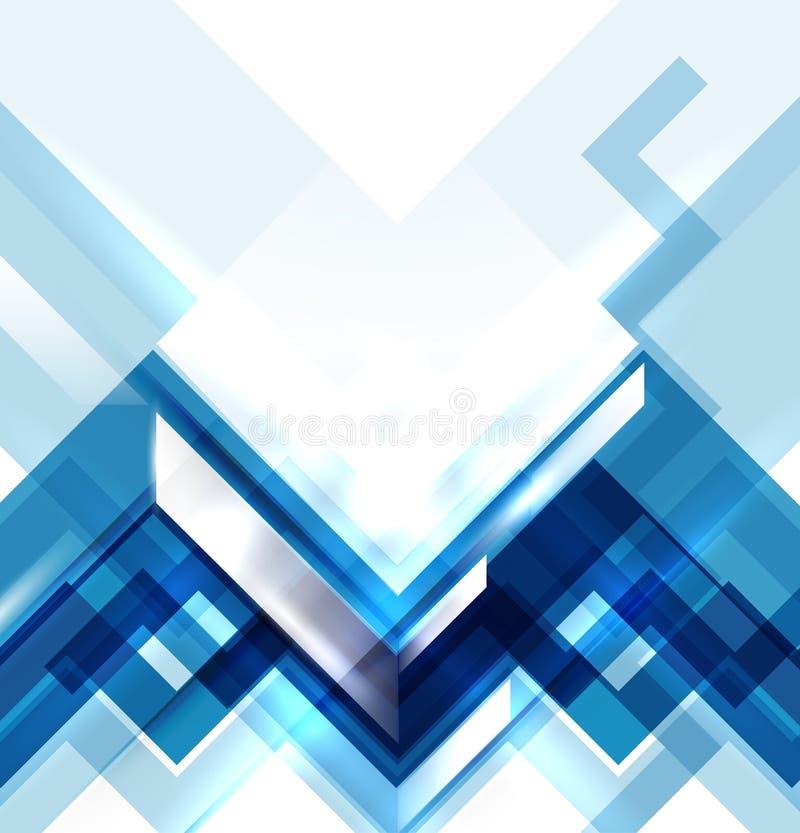 Modern geometrisk abstrakt bakgrund för blått stock illustrationer