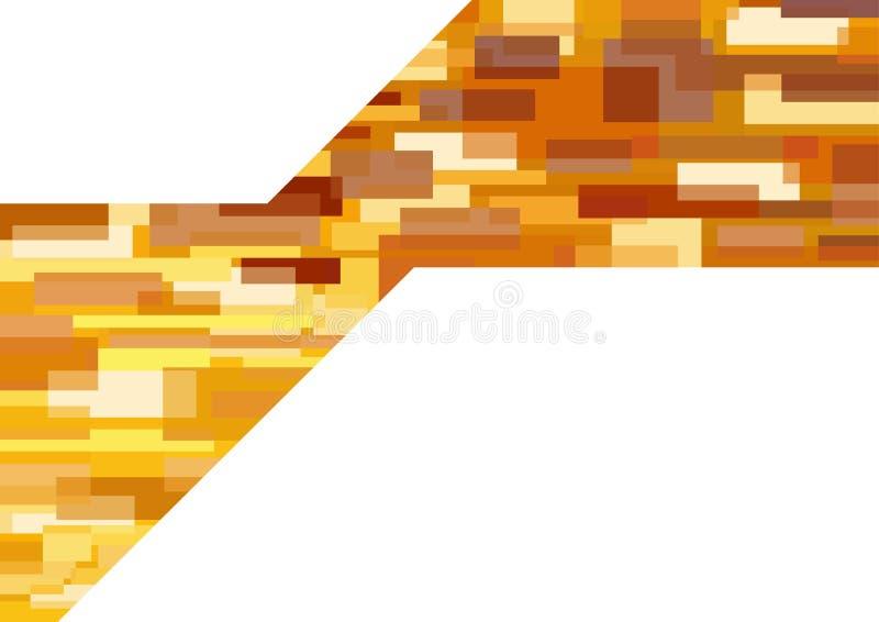 Modern geometrisk bakgrund i orange signaler vektor illustrationer