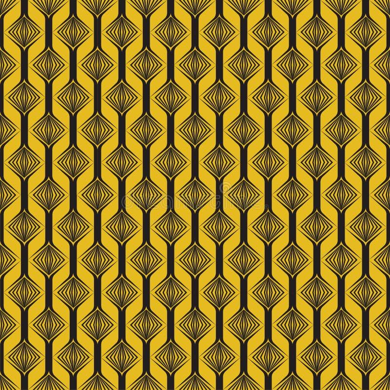 Modern geometrisk sömlös modell för vektor Uppsättning av guld- sömlösa bakgrunder Beståndsdel mode stock illustrationer