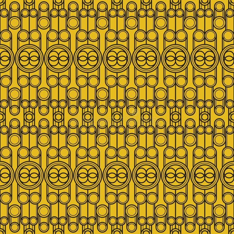 Modern geometrisk sömlös modell för vektor Uppsättning av guld- sömlösa bakgrunder Beståndsdel mode vektor illustrationer