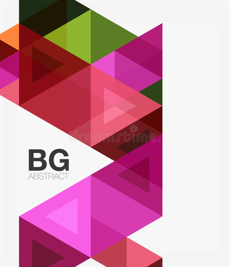 Modern geometry background. Vector template background for workflow layout, diagram, number options or web design stock illustration