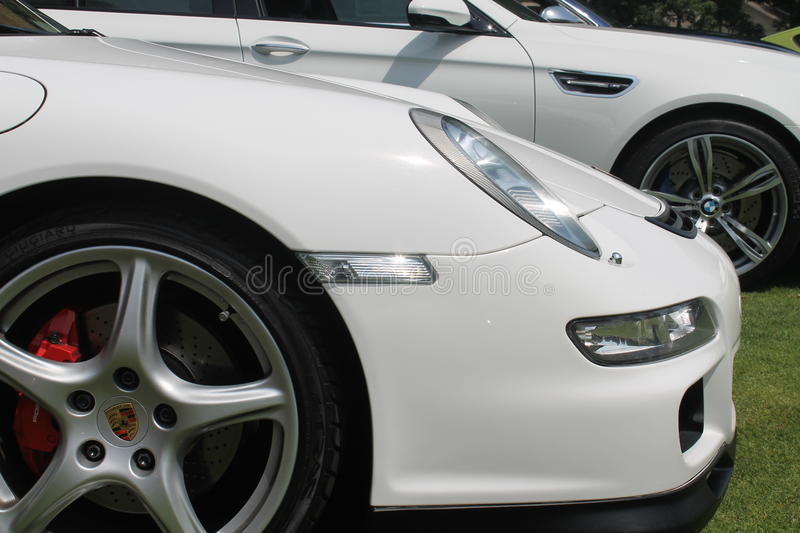 Modern german sports car front detail royalty free stock photography