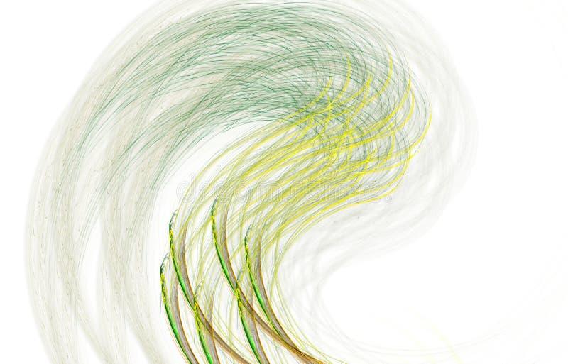 Modern gl?dande formdesign Driftiga ljusa sp?r och effekter vektor illustrationer