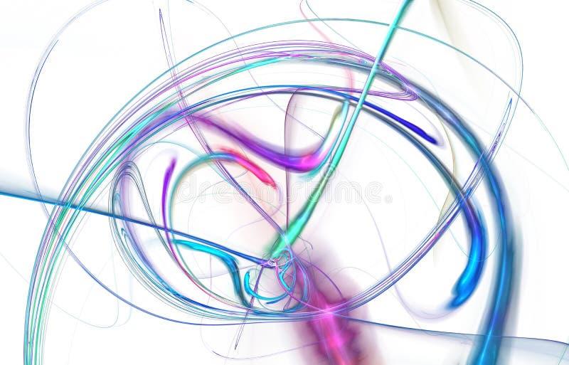 Modern gl?dande formdesign Driftiga ljusa sp?r och effekter royaltyfri illustrationer