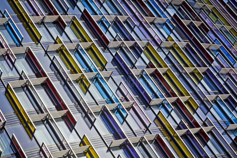Modern Glass Architecture. Colorful Modern Glass Architecture in City of London, UK stock photos