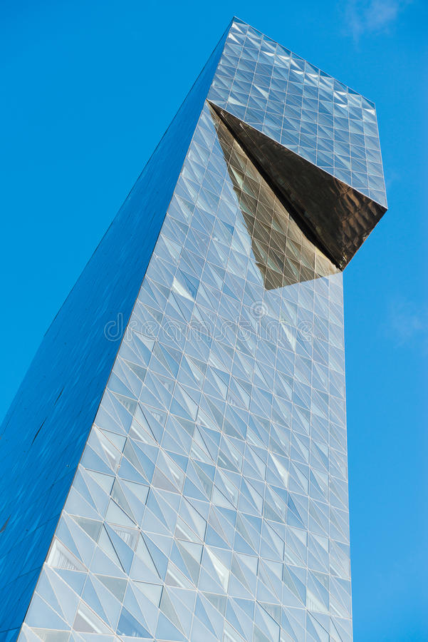 Modern glass building in abstract royalty free stock image
