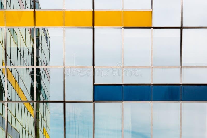 Modern glass building background stock photo