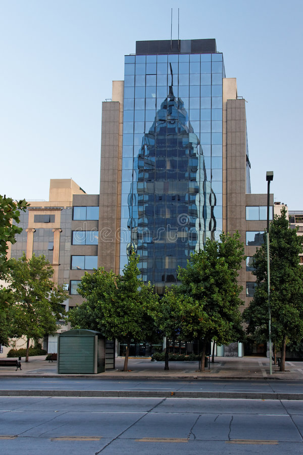 Modern Glass Building Chile stock images
