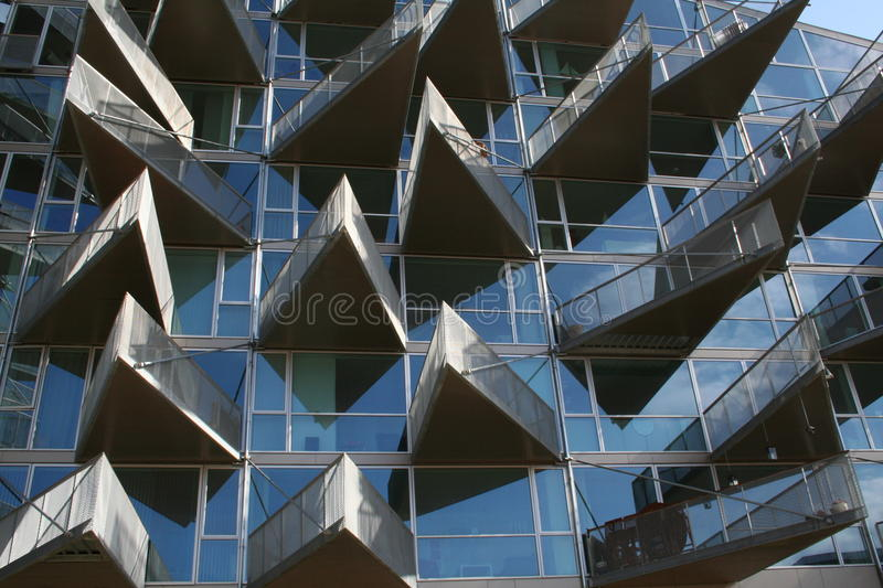 Modern Glass Building - Exterior stock photography