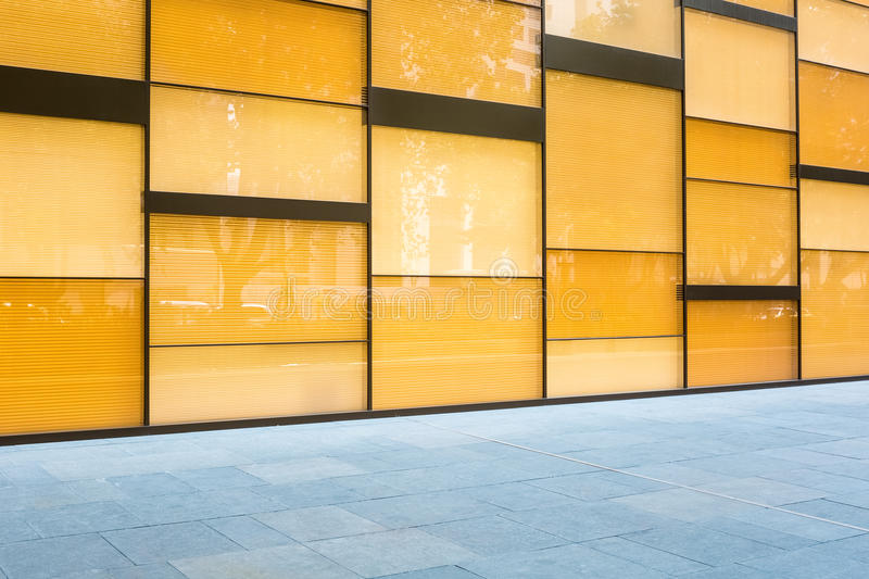 Modern Glass Curtain Wall Background Stock Image - Image of curtain ...