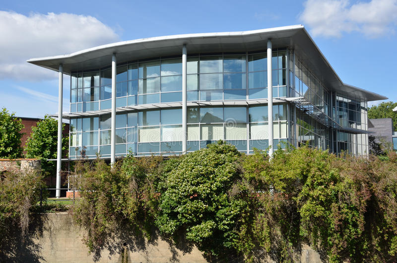 Modern Glass Fronted office block. In norwich royalty free stock photos