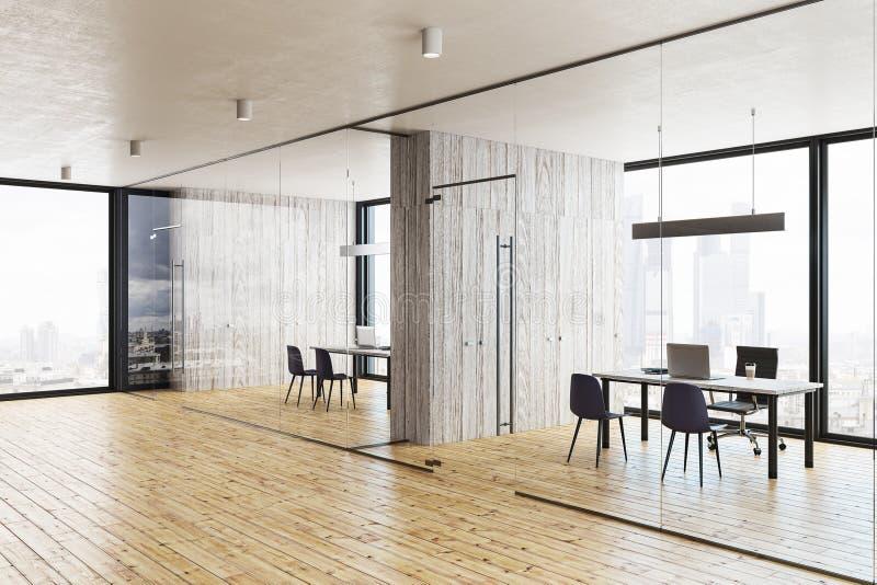 Modern glass hallway stock illustration